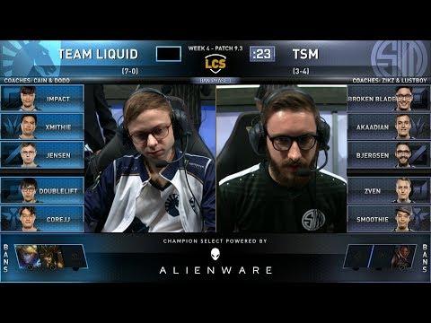 TL vs TSM - Week 4 Day 2 Season 9 LCS Spring 2019 - Team Liquid vs Team SoloMid