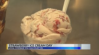 Today is National Strawberry Ice Cream Day