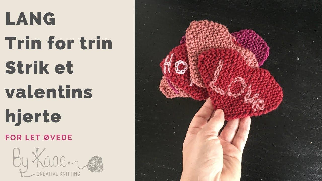 De letteste strikkede hjerter (incl opskrift)