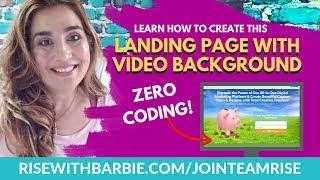 كيفية إنشاء 'صفر الترميز' مخصص الصفحة المقصودة w/ خلفية الفيديو باستخدام BUILDERALL باني الصفحة