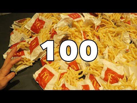 100 PACCHETTI DI PATATINE DEL MCDONALD'S | SFIDA