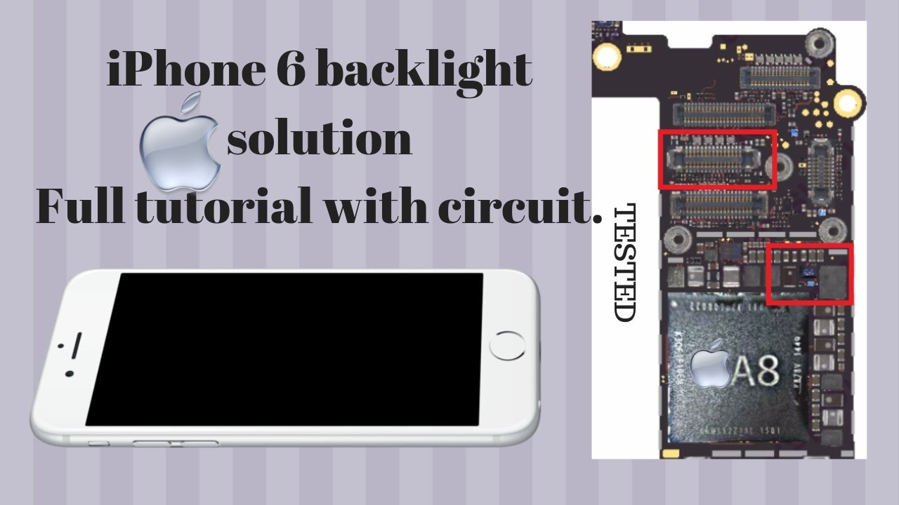 How to Fix Iphone 6 LCD Backlight repair solution