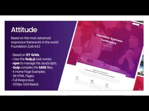 Attitude Html Template Based On Foundation Zurb Themeforest