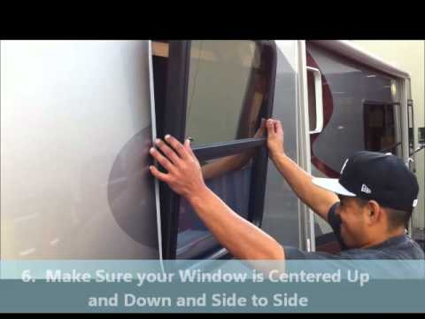 How To Install A Window Into A Rv Youtube