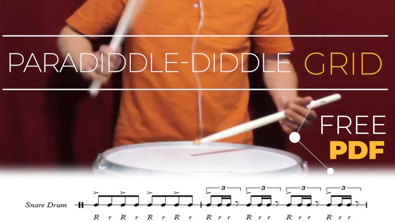 paradiddle diddle grid snare drum exercise youtube. Black Bedroom Furniture Sets. Home Design Ideas