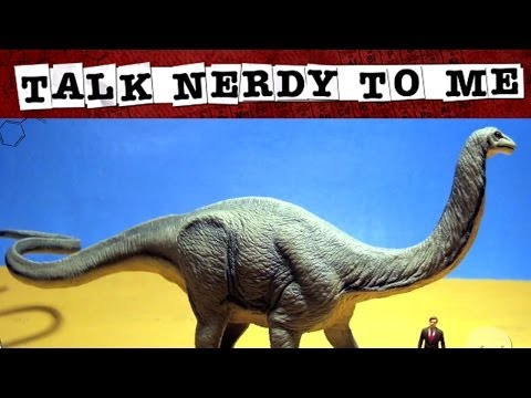 Video image: The beloved Brontosaurus and naked T-rex