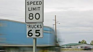 Максимально допустимая скорость на дорогах США 80 миль в час