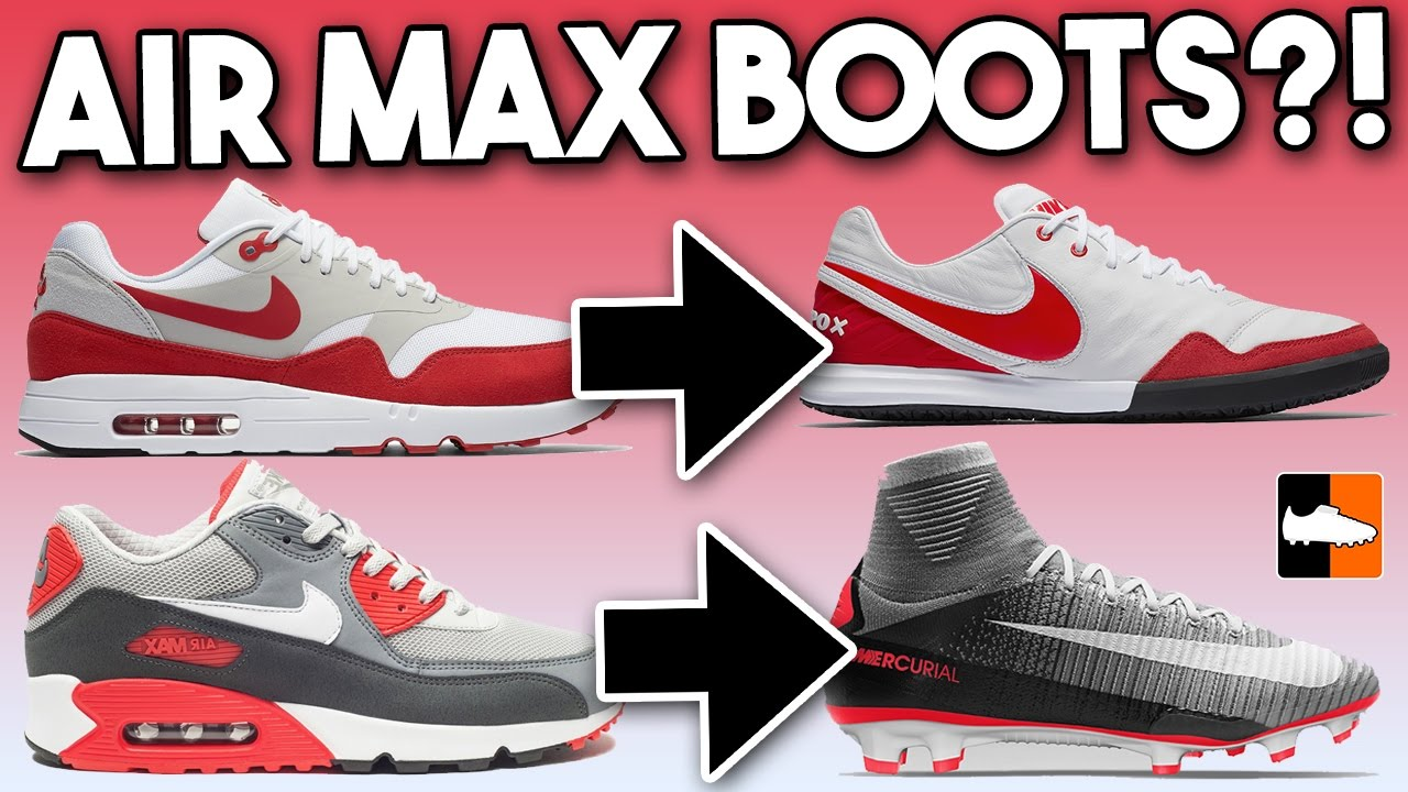 AIR MAX Football Boots! Nike Trainer Inspired Soccer Cleats - YouTube ec36958b2