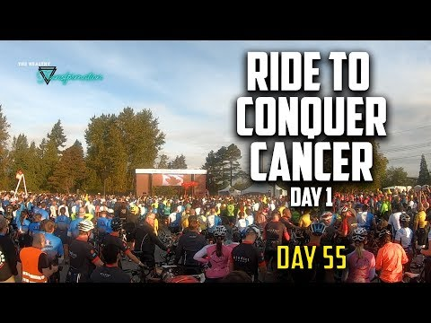 Ride To Conquer Cancer 2019 : Day 1 | Cycling 117kms Vancouver | #55