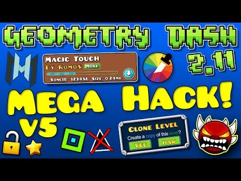 Geometry Dash Mega Hack V5! (100 Hacks!) [2.113]