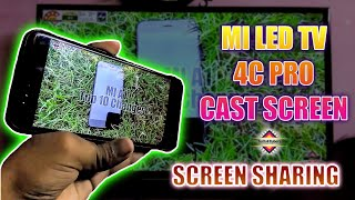 MI LED TV 4C PRO Cast Screen || How to share Android screen to your Android TV || Android screen🔥🔥