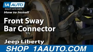 How To Install Replace Front Sway Bar Connector Link 2002-07 Jeep Liberty