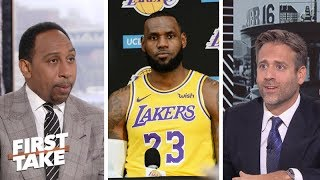 Stephen A., Max disagree on LeBron James' primary concern with Lakers | First Take | ESPN