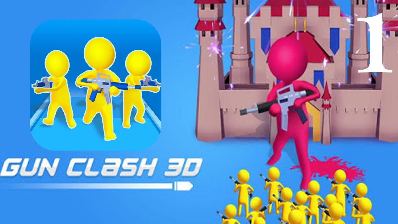 GUN CLASH 3D : EPIC BATTLE Gameplay Walkthrough New Update Android,iOS Part 1