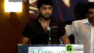 Simbu and Trisha at Vinnaithaandi Varuvaayaa Success Press Meet Clip 2