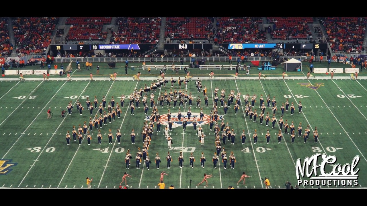 Halftime Show Ncat Marching Band Celebration Bowl 2019 Vs Alcorn State Youtube