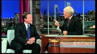 Natasha Kaplinsky - ITV News 11.25am brief mention about PM David Cameron on David Letterman show