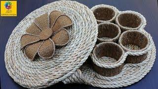 How to Make a Storage Box | DIY Multipurpose Organizer form Jute | Jute Rope Craft Idea