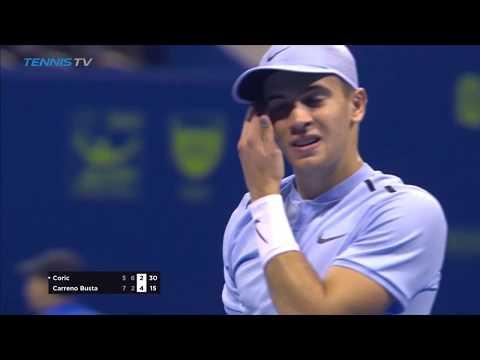 Borna Coric Vs. Pablo Carreno Busta 2018 Doha Highlights HD
