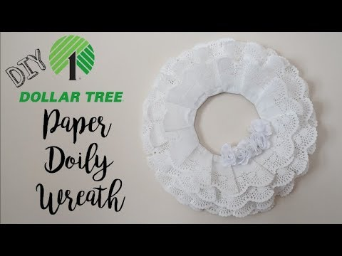 PAPER DOILY WREATH | DOLLAR TREE DIY | VALENTINE'S DAY 2019!!!