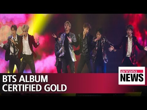 BTS album certified gold by Recording Industry Association of America