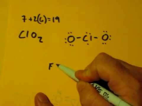Lewis Dot Structure Of Clo2 Chlorine Dioxide Youtube