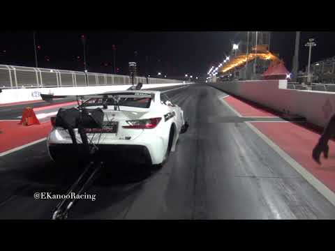 EKanooRacing's Pro Boost Lexus RCF Runs 3.633@352KM/H (218.7MPH) AT THE 8th mile