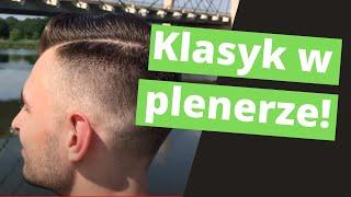 Łukasz / Klasyczny pomadowy zaczes z przedziałkeim / Warsztat Fryzur Męskich Wrocław