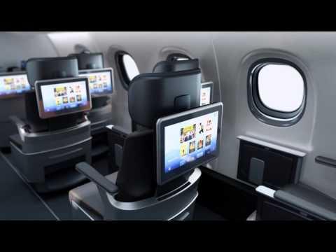 Embraer E2 jet cabin, interior concept