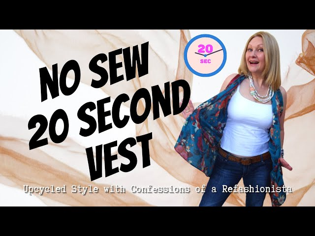 The Instant (Scarf) Vest: A 20 second no sew no cut DIY tutorial