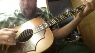 """Randall Collins"" on a 1969 Gibson Hummingbird"