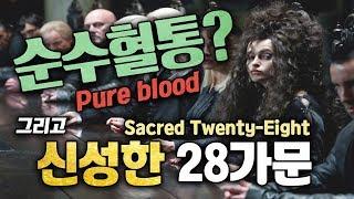 해리포터에서 말하는 순수혈통이란? 그리고 신성한 28가문에는 어떤가문이 있을까?
