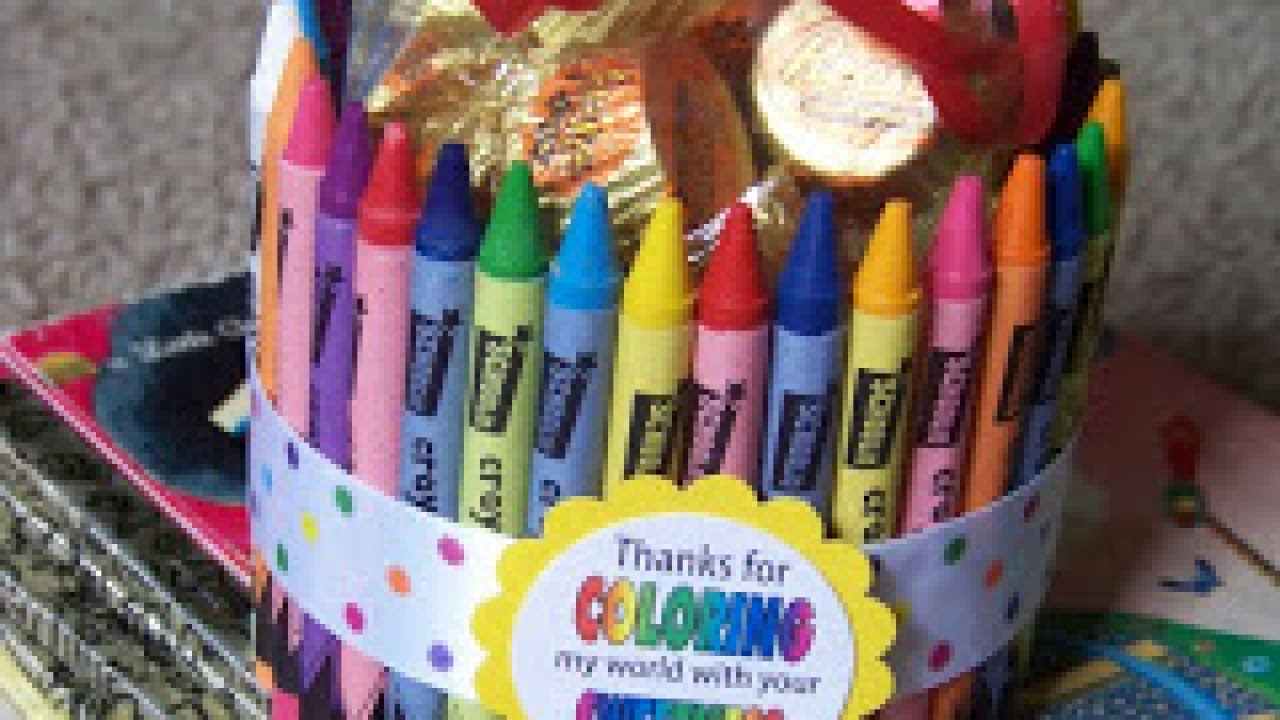How To Make A Color My World Teacher Thank You Gift Diy Crafts