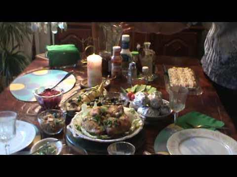 Праздничный стол ко Дню Рождения -  2013