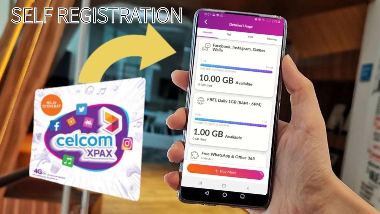 Cara Register Sendiri Simkad Celcom Xpax Celcom Self
