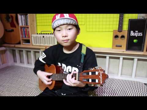 Hey Jude - The Beatles (ukulele cover & arranged by 9 year-old kid Sean Song)