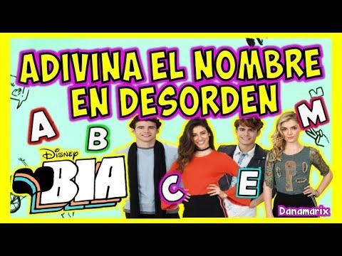 BIA ADIVINA EL NOMBRE DE LOS PERSONAJES EN DESORDEN - TEST | DISNEY CHANNEL