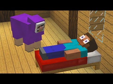 Minecraft Except Purple Shep Follows You Everywhere