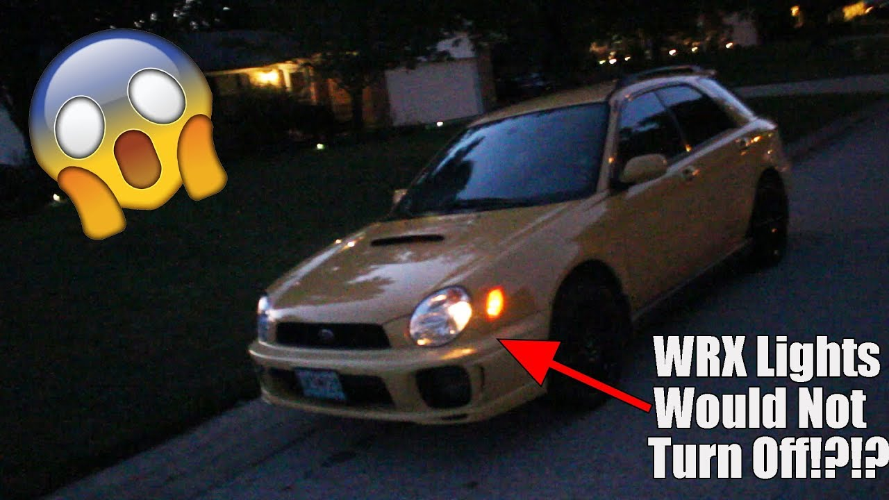 medium resolution of lights wont turn off on wrx wiring issue solved