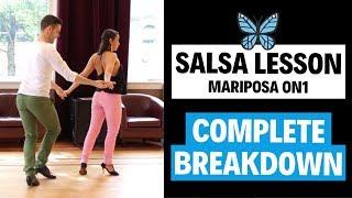 Learn to Salsa Dance On 1 - Intermediate Salsa Lesson - Mariposa (FULL BREAKDOWN)   TheDanceDojo.com