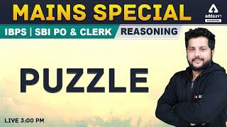 SBI PO IBPS PO, Clerk Mains | Reasoning | SBI PO Mains Puzzle | Adda247