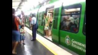 Inauguração do metro de fortaleza na estação da Parangaba