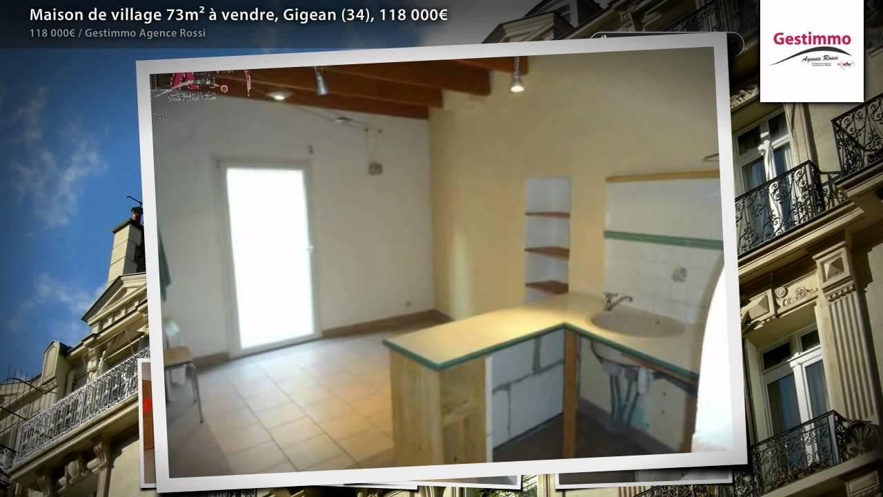 Maison de village 73mâ² ã vendre gigean 34 118 000€ youtube maison design gigean