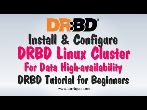 Install & Configure DRBD Linux Cluster for Data High Availability - DRBD Tutorial for Beginners