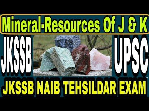 Mineral-Resources Of Jammu & Kashmir   jkssb   Upsc   naib tehsildar   jk police SI exam