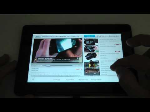Blackberry Playbook The YouTube Experience