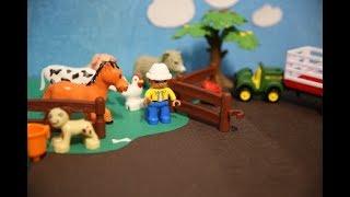 Домашние животные для детей. На ферме. Мультик про голоса животных. Кто как говорит?