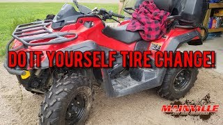 How to change tires by hand! Live and learn!