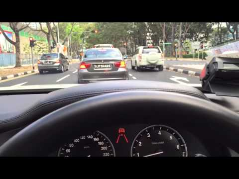 BMW Active Cruise Control ACC in Action in Singapore