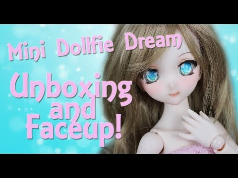Unboxing/ Faceup:  Mini Dollfie Dream Volks BJD!